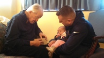 Dad with Ben and Alaina
