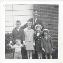 Easter Sunday, 1965, Dusty Sr., Dusty Jr., Karen, Kelly, Joanna, Robert